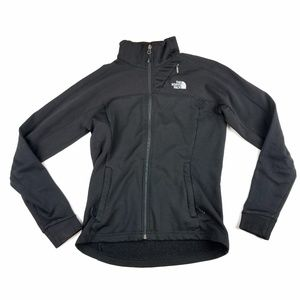 Womens North Face Black Zip Up Sweatshirt Size S